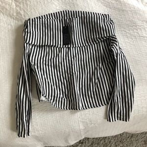 Tops - Striped off the shoulder top - Storets